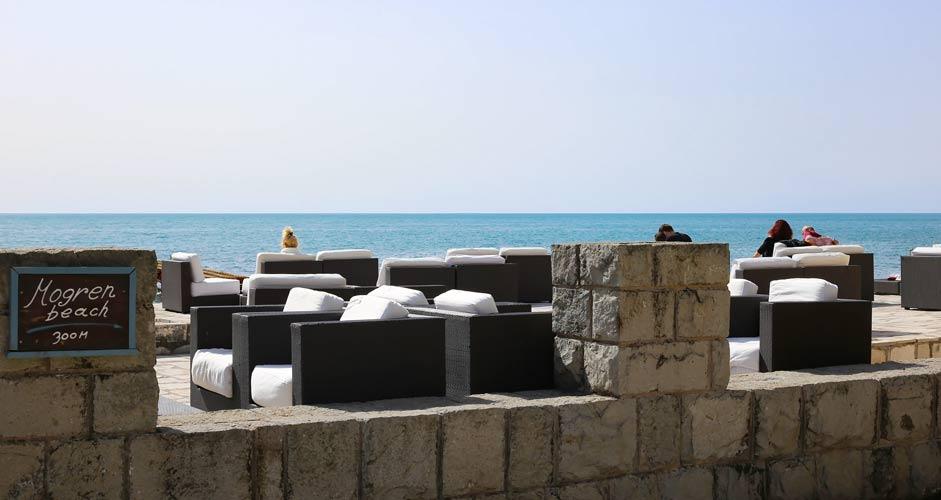 Terrace by the sea in Budva