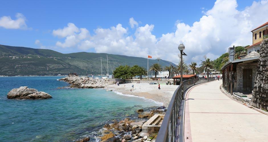 Sea promenade in Herceg Novi