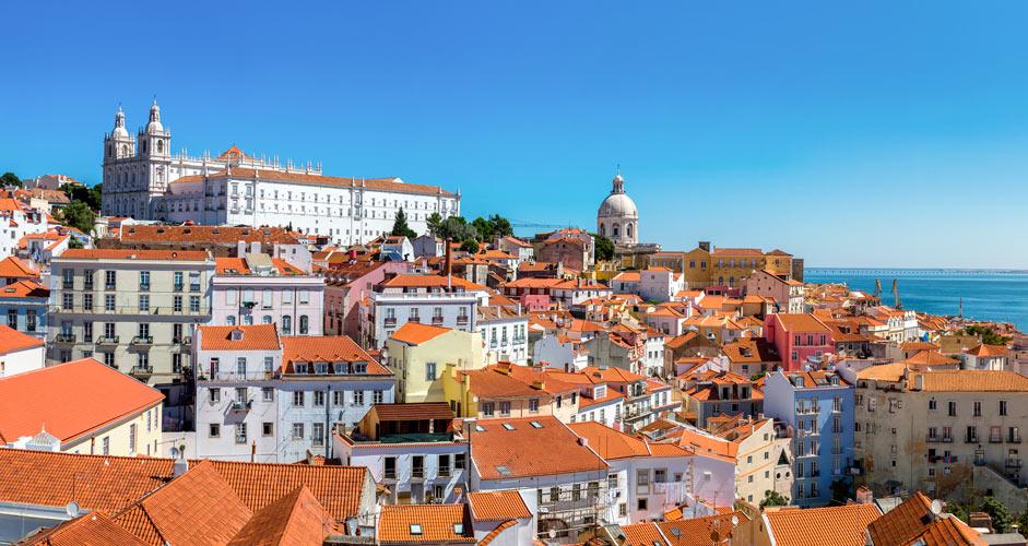 Alfama district in Lisbon