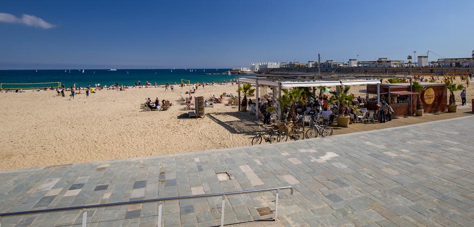 Nova Icària beach in Barcelona