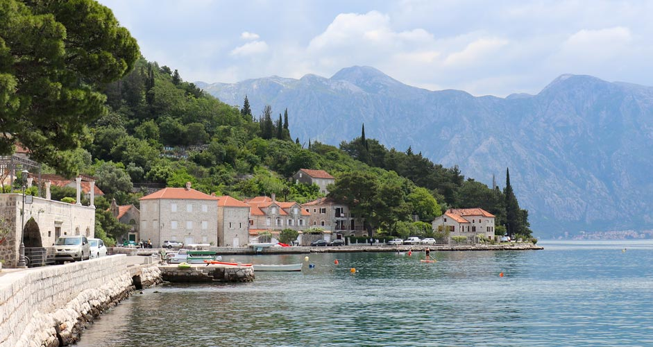 Kotor Bay and the town of Perast