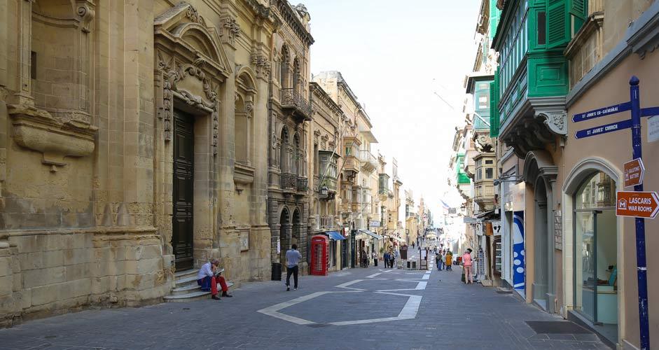 Triq il-Merkanti in Valletta