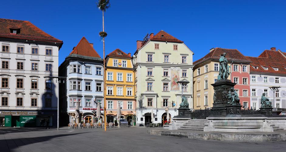 Graz central square