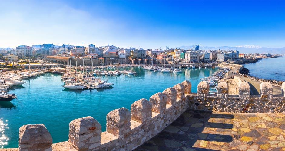 Marina in Heraklion, Crete