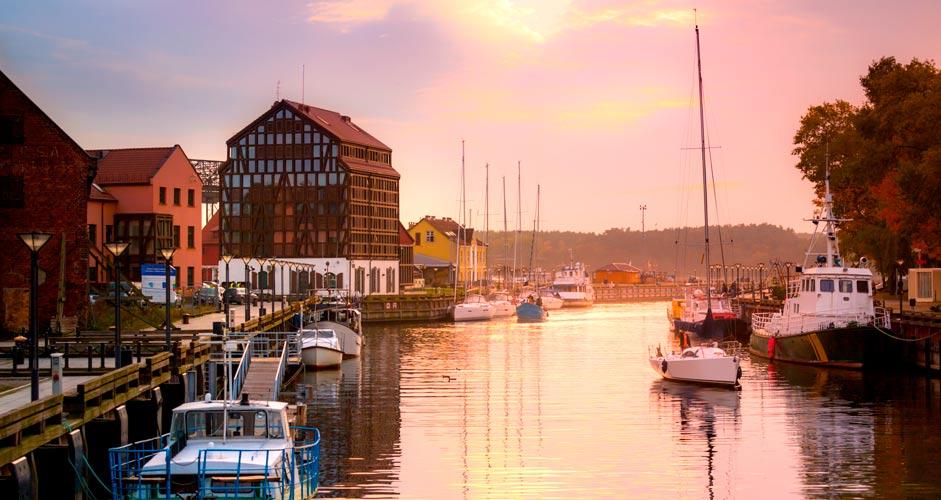 Harbor in Klaipeda, Lithuania