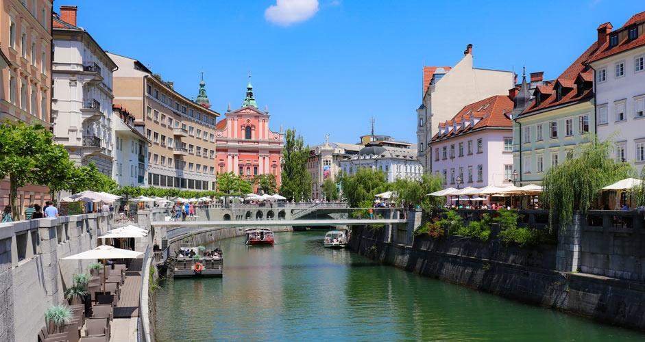 River Ljubljanica in Ljubljana