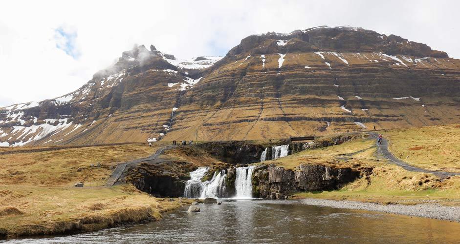 Kirkjufellsfoss in Snaefellsnes peninsula