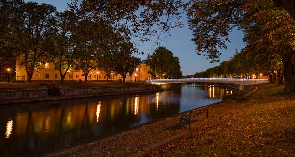River Aura in Turku, Finland